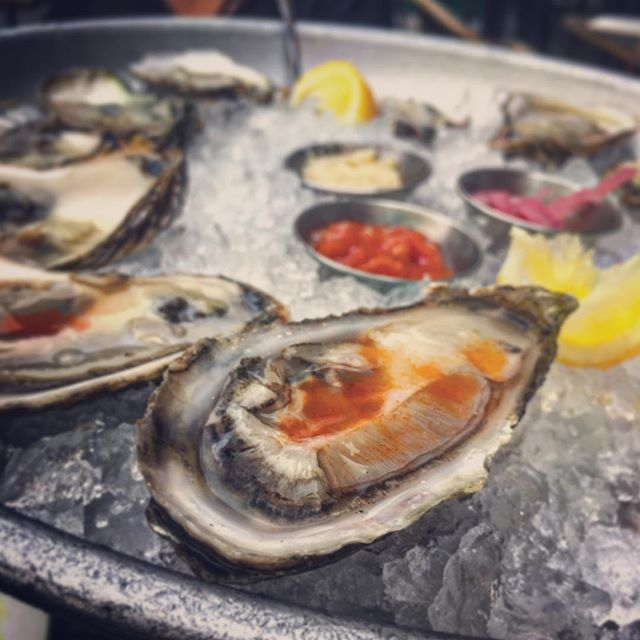 Summer cometh.  #oysters #austinstreet #queens #hotsauce #theperfectpearson