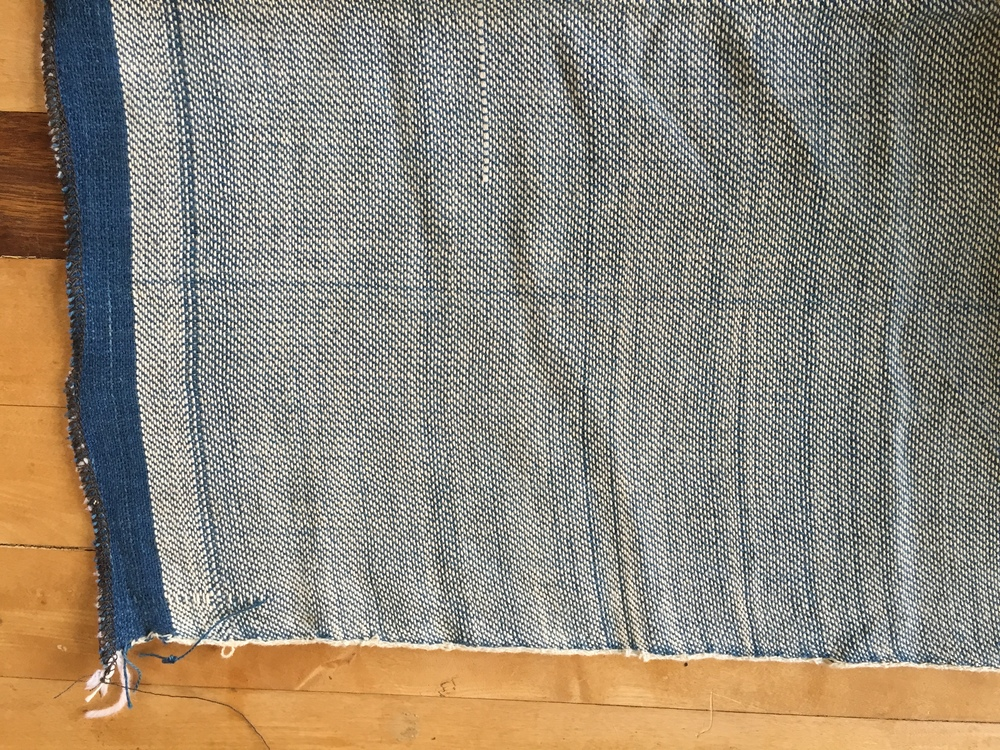Little errors and runs in the beginning of the weaving process give our handwoven denim a lot of character and slubbiness.