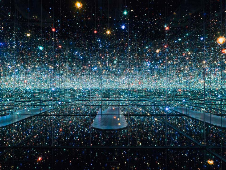"""Infinity Mirrored Room - The Souls of Millions of Light Years Away"", 2013.  (Source:   The Broad   )"
