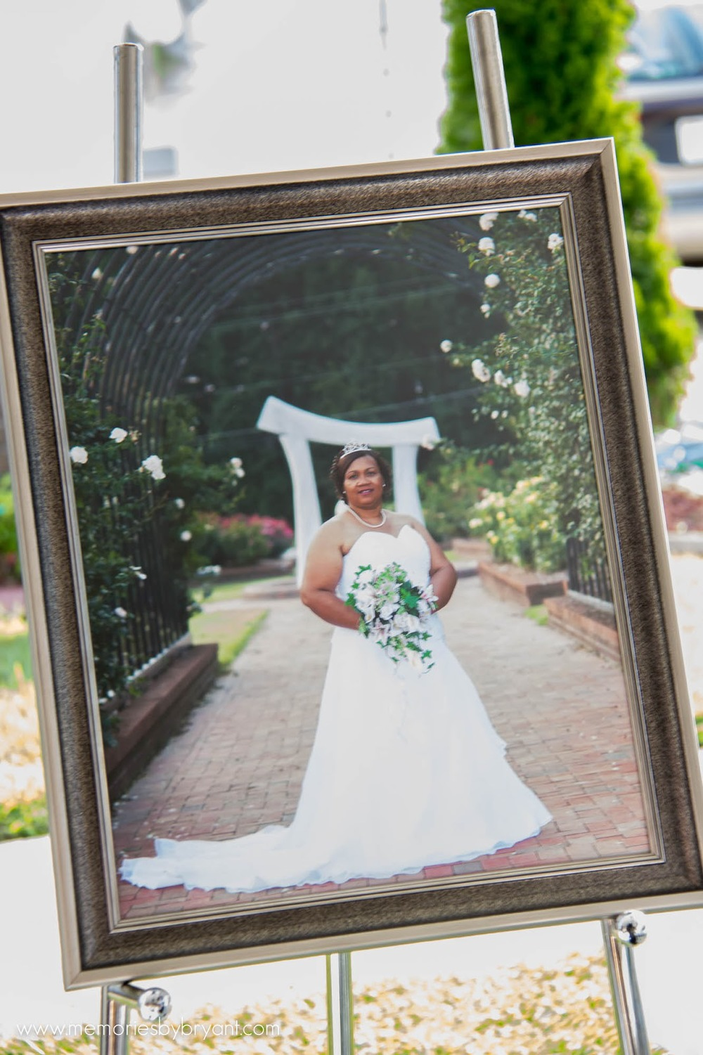 vow renewal bridal portrait wedding details