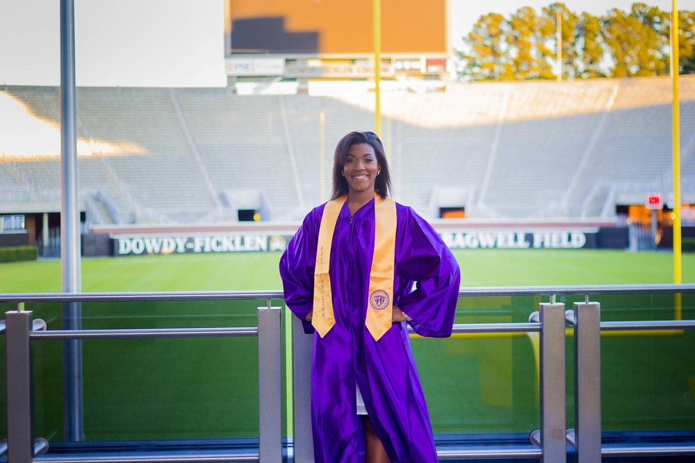 senior portrait ecu dowdy ficklen stadium bagley field