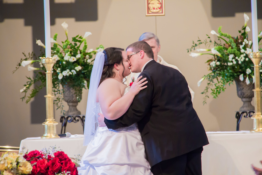 beauty and the beast inspired wedding first kiss