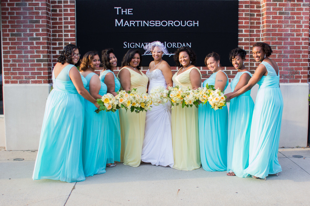 bride and bridesmaids greenville nc