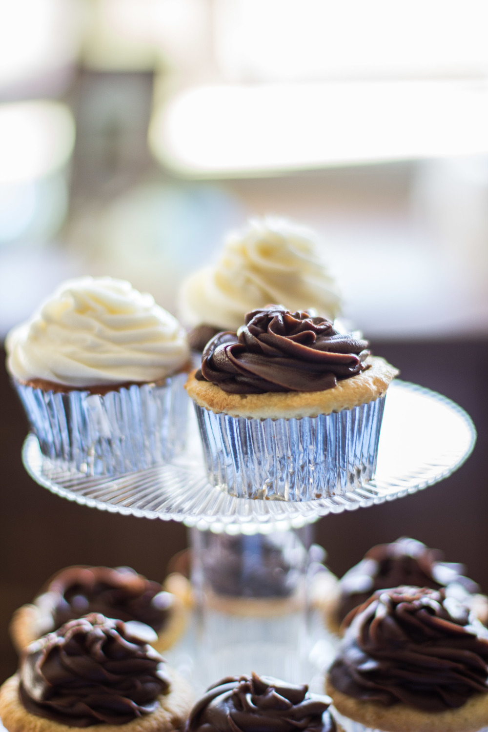 Cupcake Tier Rustic Aqua Sea Wedding Decor | Martinsborough Wedding Reception - Greenville NC | Bryant Tyson Photography
