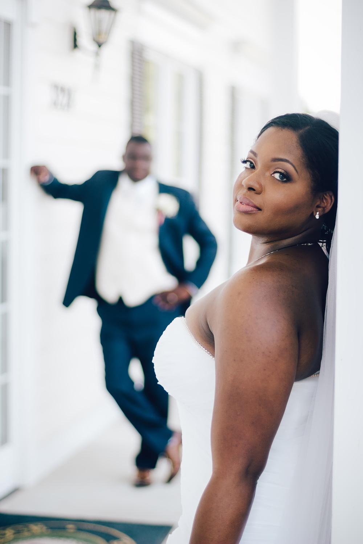 River Ridge Golf Club Wedding : Asha + Mark | Raleigh NC Wedding Photographer | Bryant Tyson Photography | Editorial Bridal Poses | Couples Pose Idea | www.memoriesbybryant.com