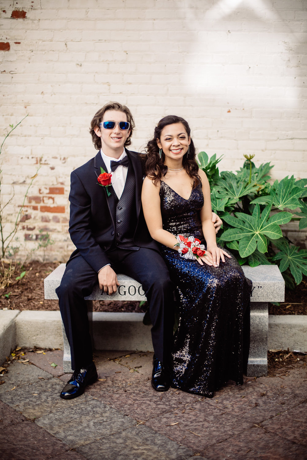 Greenville NC Prom Portraits | A Gift From BTP | Sheila + Dylon | Julius H Rose High School Prom 2017 | Bryant Tyson Photography | www.memoriesbybryant.com