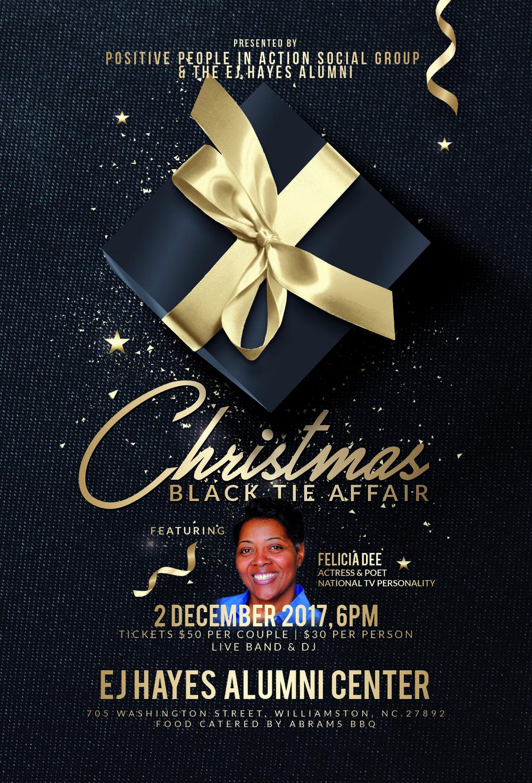 Christmas Black Tie Affair | Flyer Design | Greenville NC Graphic Designer | Bryant Tyson Photography | www.memoriesbybryant.com