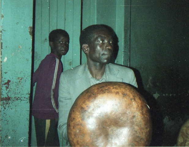 Mondrek Muchena playing Mbira Huru (Dza VaDzimu) at his house.