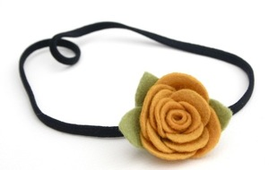 bitty bloom ranunculus headband- choose your color