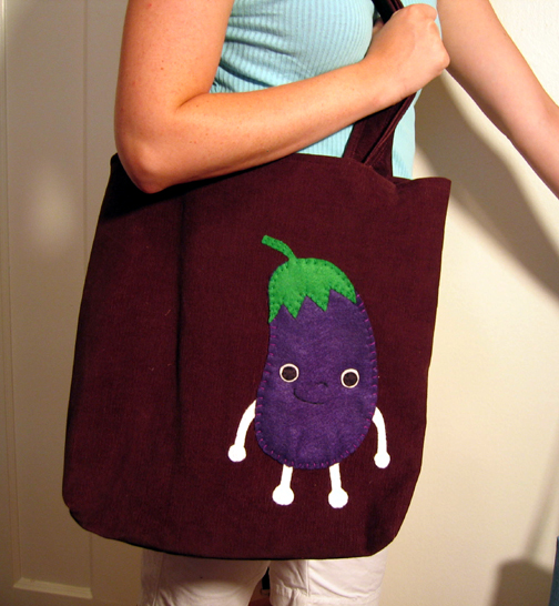 Eggplant Food Friend Tote
