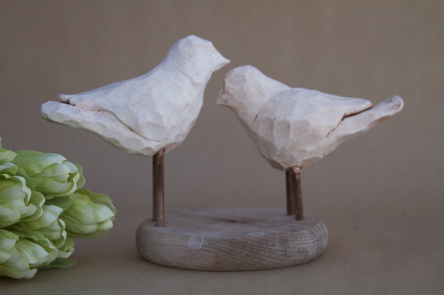 carved birds