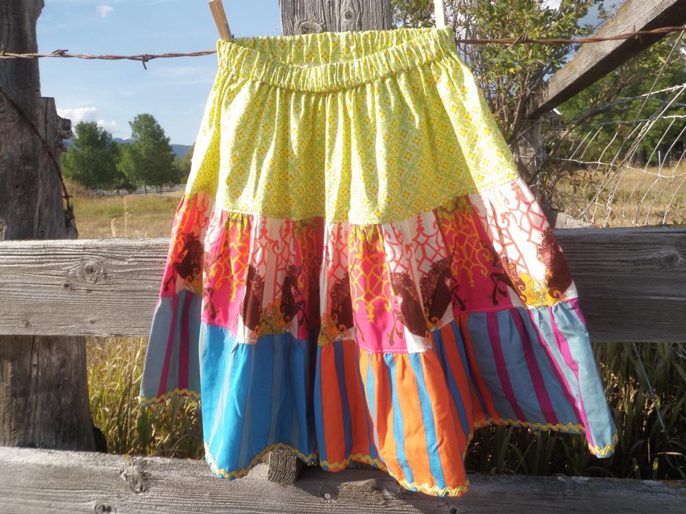 3 tiered girls skirt by noelleodesigns