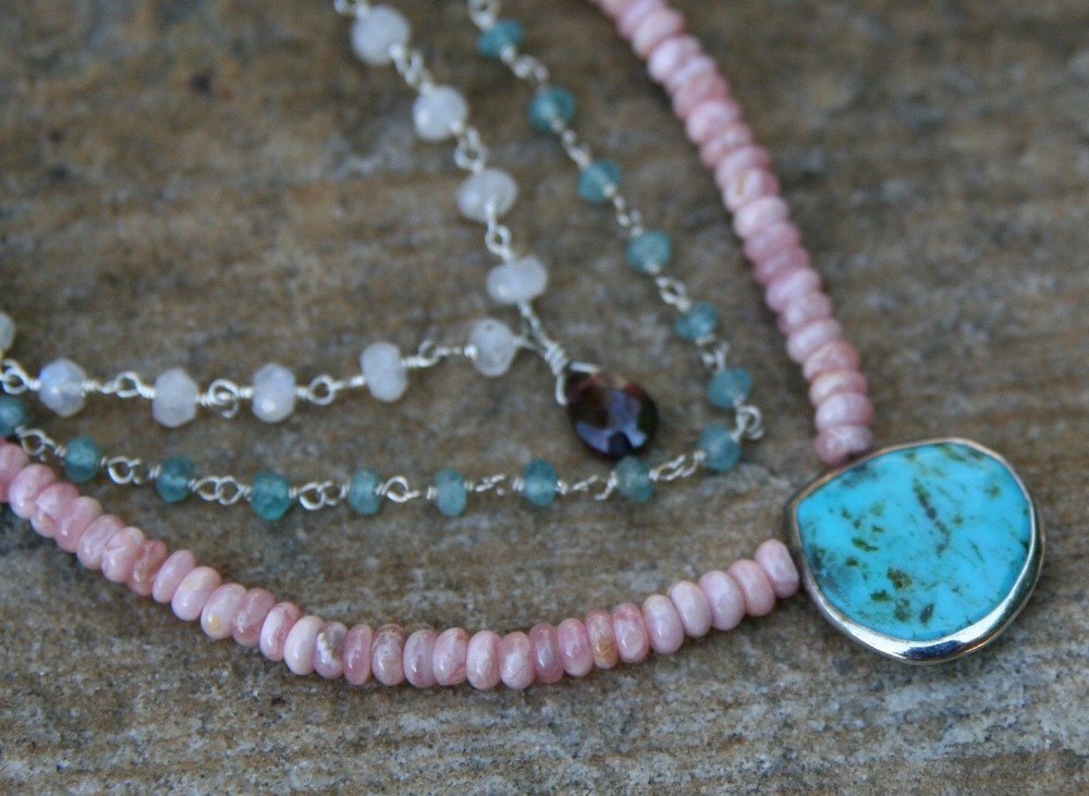 pink apatite necklace