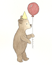 bear and balloon for beehive