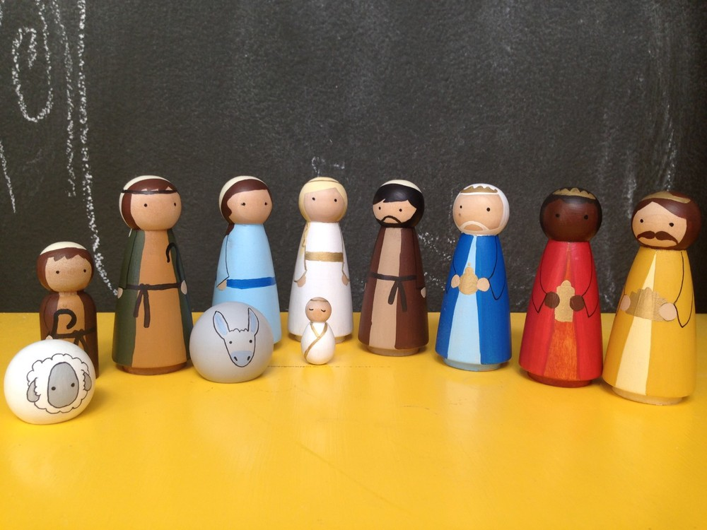 - peg doll nativity  tomi ann hill