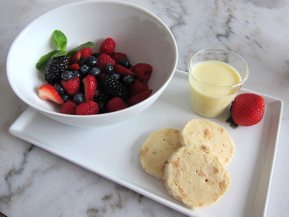 Summer Berries with Vanilla Cream