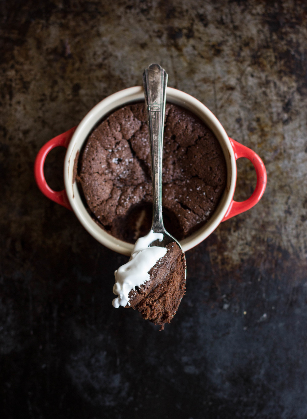 Fallen Chocolate Cake with Marshmallow Cream Sauce / February 13, 2015 ...