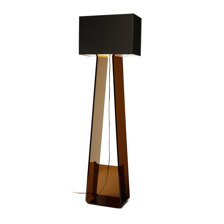 Tube top floor lamp