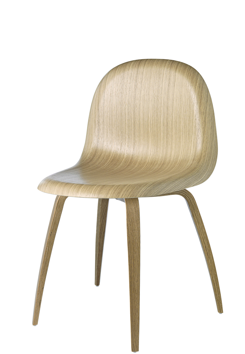 Gubi 5 Chair_Oak Shell_Oak Base_Front.jpg