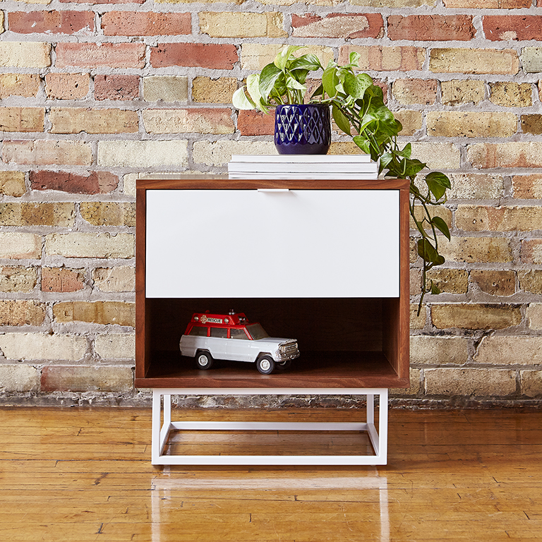 Emerson End Table - Walnut and White - L01.jpg