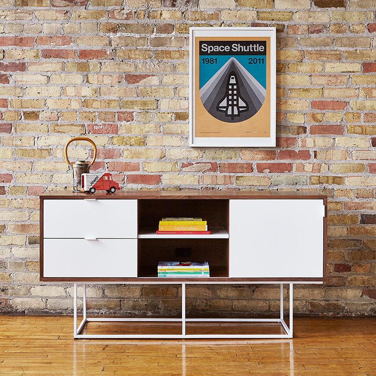 Emerson Media Stand - Walnut and White - L01.jpg