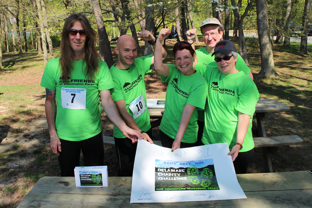 Team Friends of Wilmington Parks won the 2015 Adventure Challenge Relay.  Photo courtesy of Kate Jacobi.