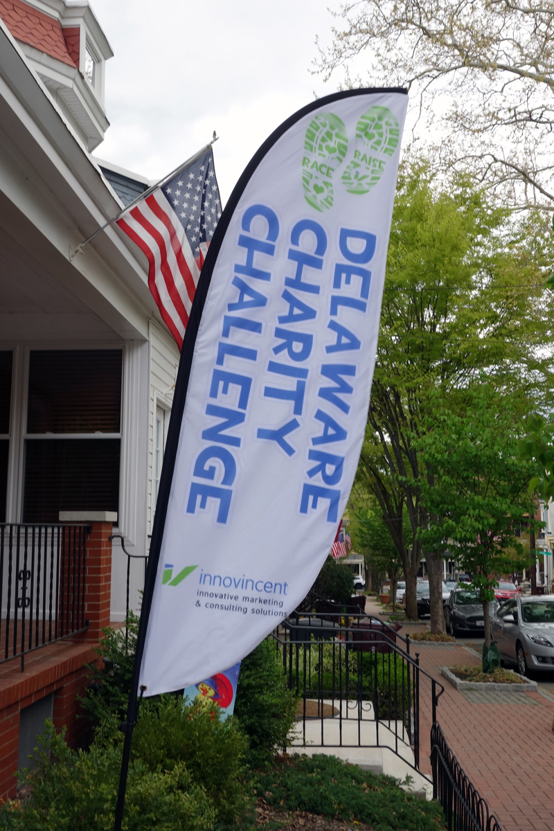 The Delaware Charity Challenge flag will by flying at the entrance to Brandywine Creek State Park on Saturday, April 30.