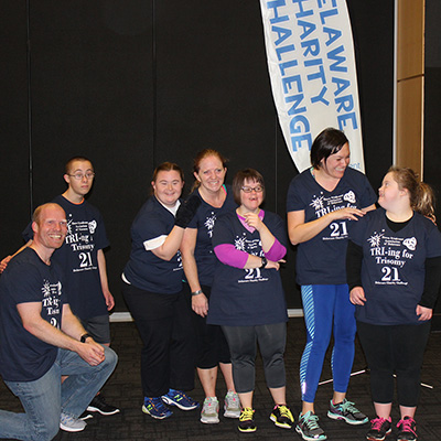 The Down Syndrome Association of Delaware team had many athletes compete in the 8 a.m. timeslot on Saturday.