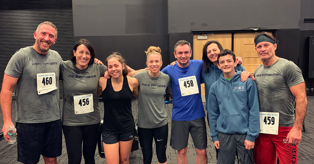 Team Pike Fitness competed in the 2019 Delaware Charity Challenge winter indoor triathlon, winning the Medley Women's division in the indoor triathlon and donating their prize money to Mike Clark Legacy Foundation.
