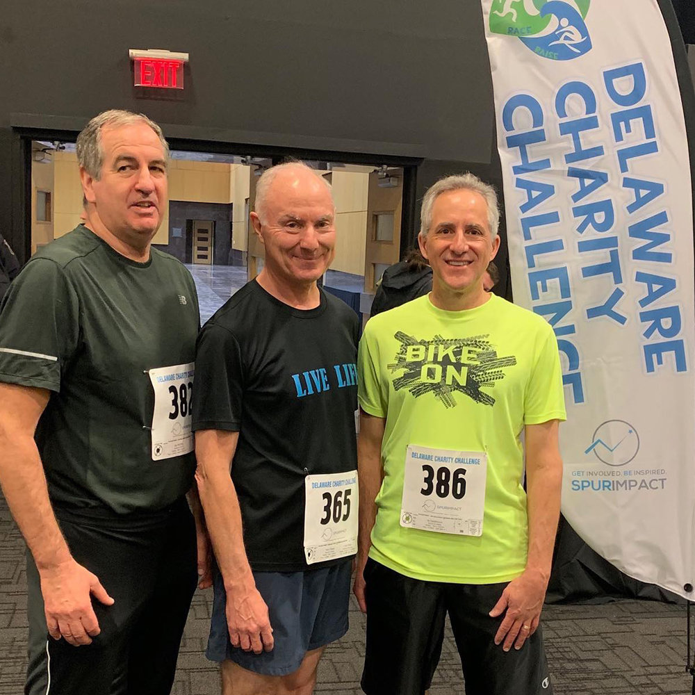 Team Runnin' and Ridin' for Literacy Delaware won the Medley Men's Division in the 2019 Delaware Charity Challenge Winter Games. They also finished 5th overall in the Winter Race to Raise with over $600 raised for Literacy Delaware.