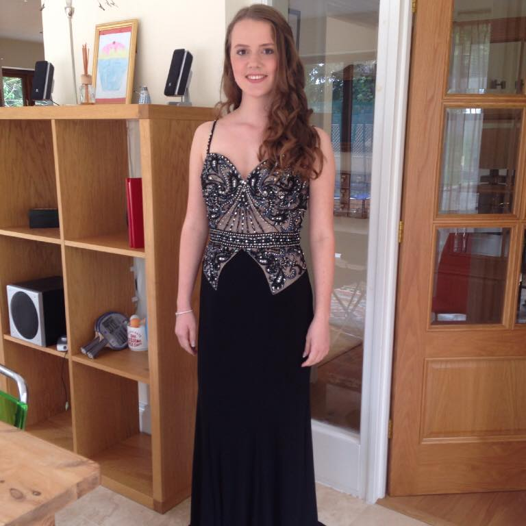 A photo of Ellie in her gorgeous dress -  Sallyanne Townsend