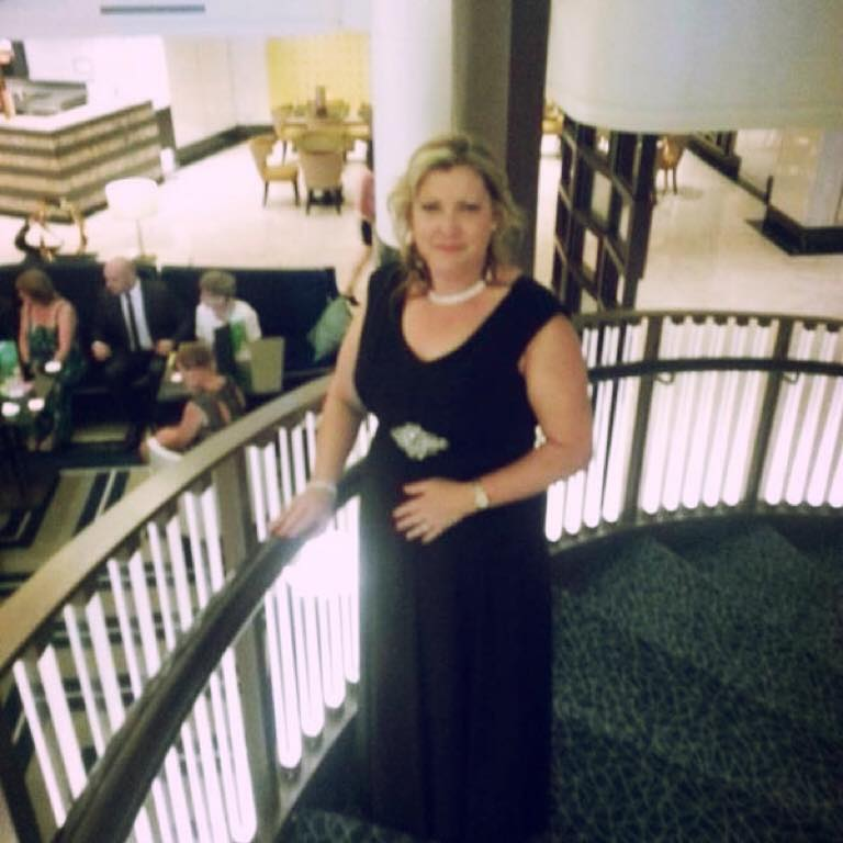 Wore my black dress from Promesse on a formal night on our cruise - Jo Kite