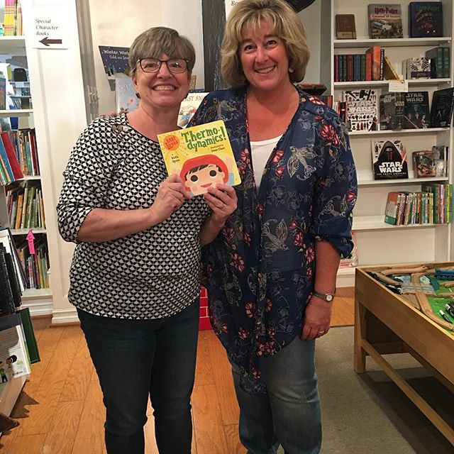 What fun we had with Ruth Spiro on Thursday!  We sold out of most books, but we still have SIGNED copies of Baby Loves Quarks!  Get them while they're still in stock!  #onceuponastorybook #becausestoriesinspireandbooksmakememories #authorsandillstratorsrock #ruthspiro #babylovesscience