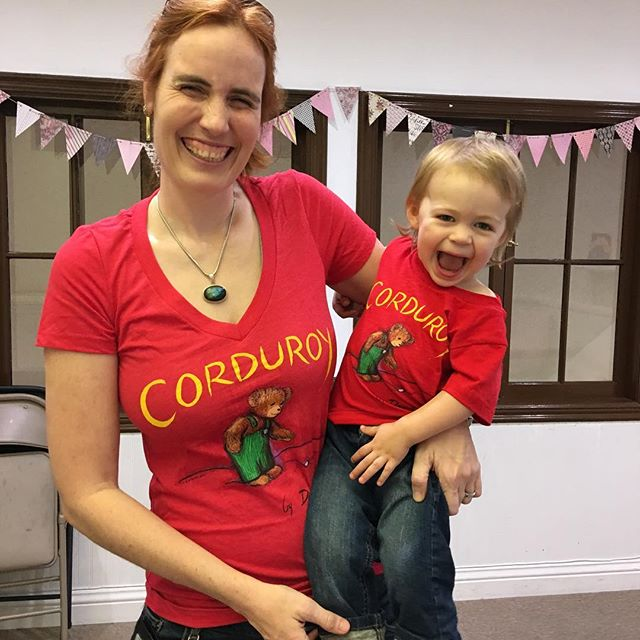 Wouldn't you like to have matching literary t-shirts like this mommy & baby?! We carry adult tees, kids' tees, and baby onesies in literary themes. #greatshowergift #mommyandbabymatch #onceuponastorybook #becausestoriesinspireandbooksmakememories @outofprint
