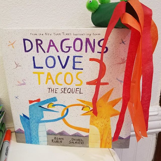 Thanks to Miss Tina for organizing our Craft Day this morning!  Each craft represented a book. And the kids got a $5 credit in the store!  #onceuponastorybook #becausestoriesinspireandbooksmakememories #misstinamadethis #dragonslovetacos #craftday