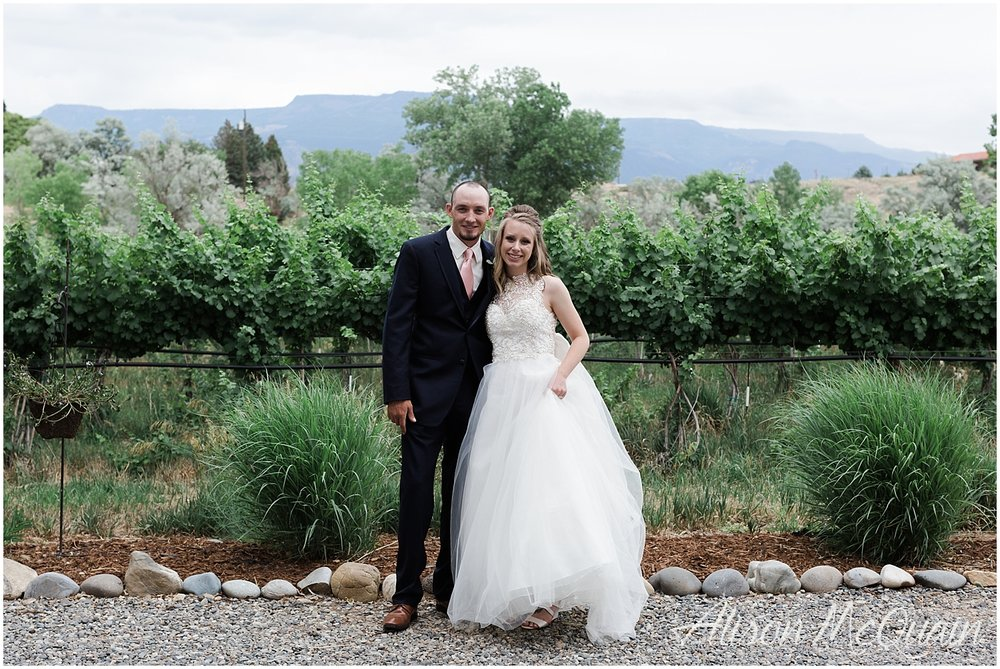 Not a better place for these two wine-lovers to get hitched!