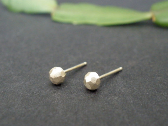 Faceted Pebble Studs