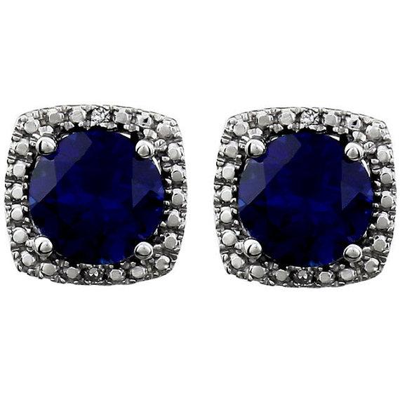 Blue Sapphire Studs