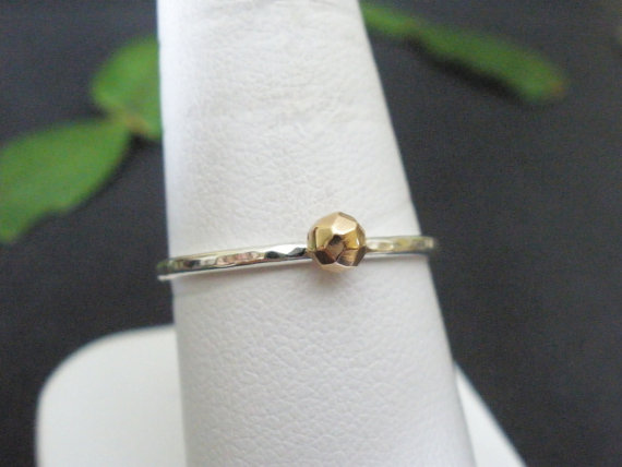 Tiny Gold Stack Ring