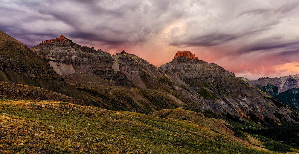 Sunset at Yankee Boy Basin in the San Juan Mountain of Colorado