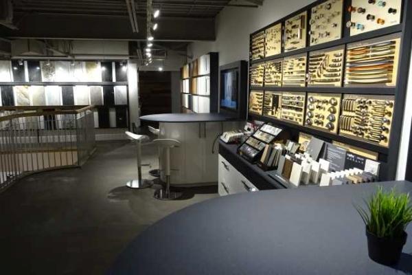 Salle de montre de matériauthèque - MACUCINA à Laval