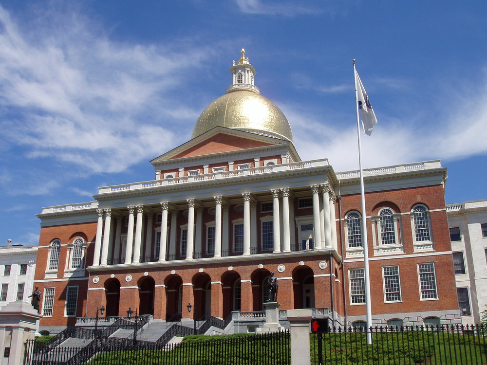 The Massachusetts State House in Boston. Massachusetts is one of the most important community solar states. Credit:  Daderot  at  Wikipedia