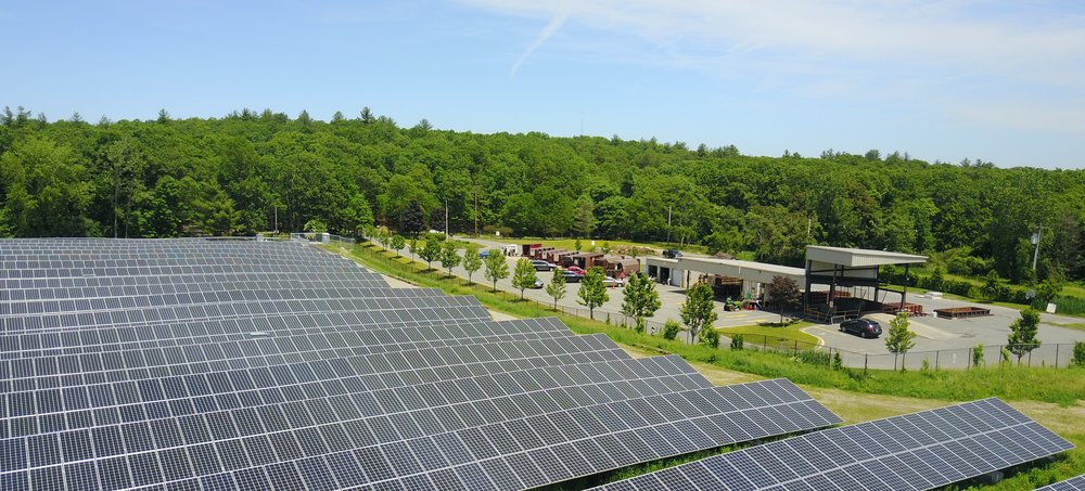 This community solar project in Dover, MA, is among those sited on capped landfills.