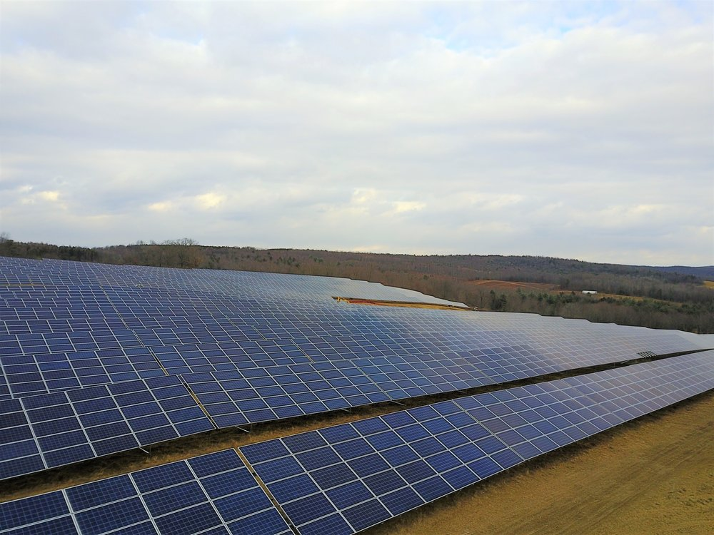 Our newest solar garden with Delaware River Solar, near Elmira, NY.
