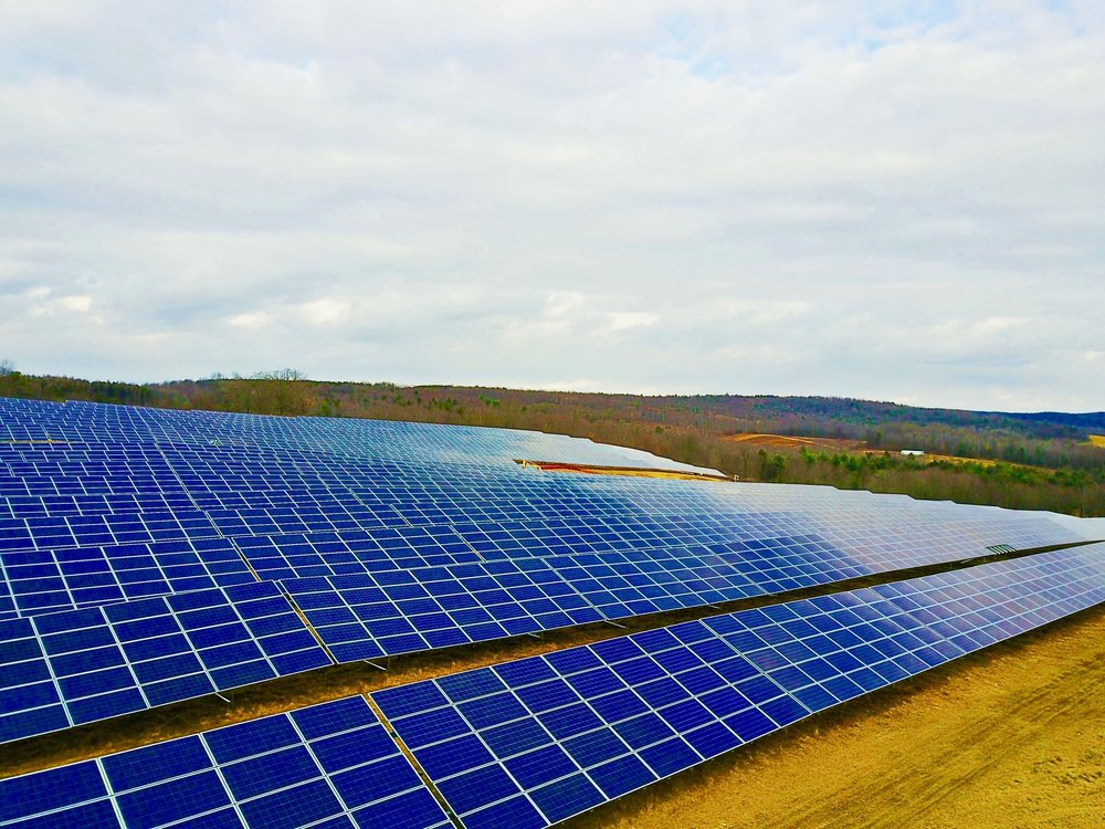 Here's the solar garden on Lowman, NY that is powering Dick & Linda's home.