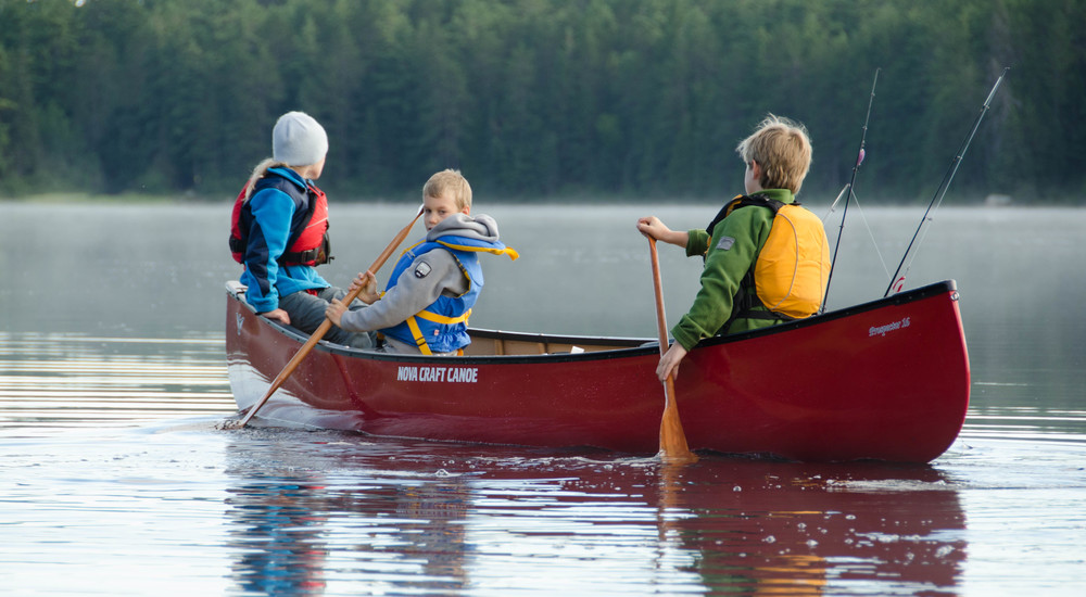 The Nova Craft Prospector is a very stable boat even when put to the test by energetic kids.