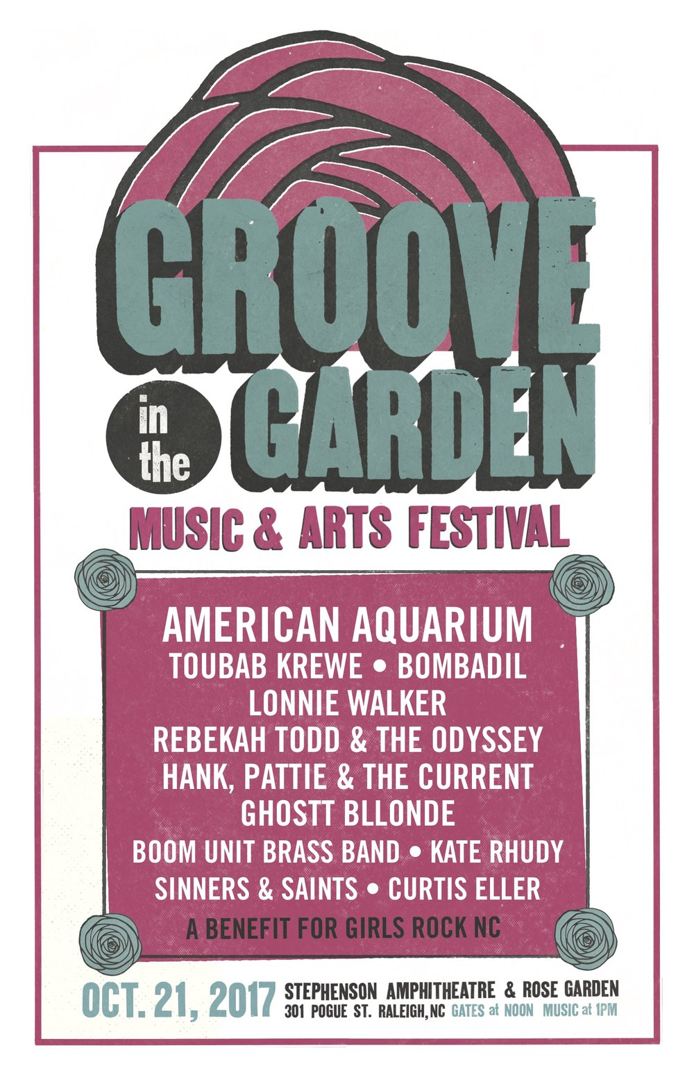 Groove in the Garden 2017  - Come out to the Raleigh Rose Garden and Ampitheater this Saturday Oct 21st 10am -6pm for Art and Food Trucks and Music(Music until 9pm!) I will have a booth with my #eyeswideopen photos printed on watercolor, notecards and portfolio of my portrait work. Come by and say hi! http://thepourhousemusichall.com/event/groove-in-the-garden-2/