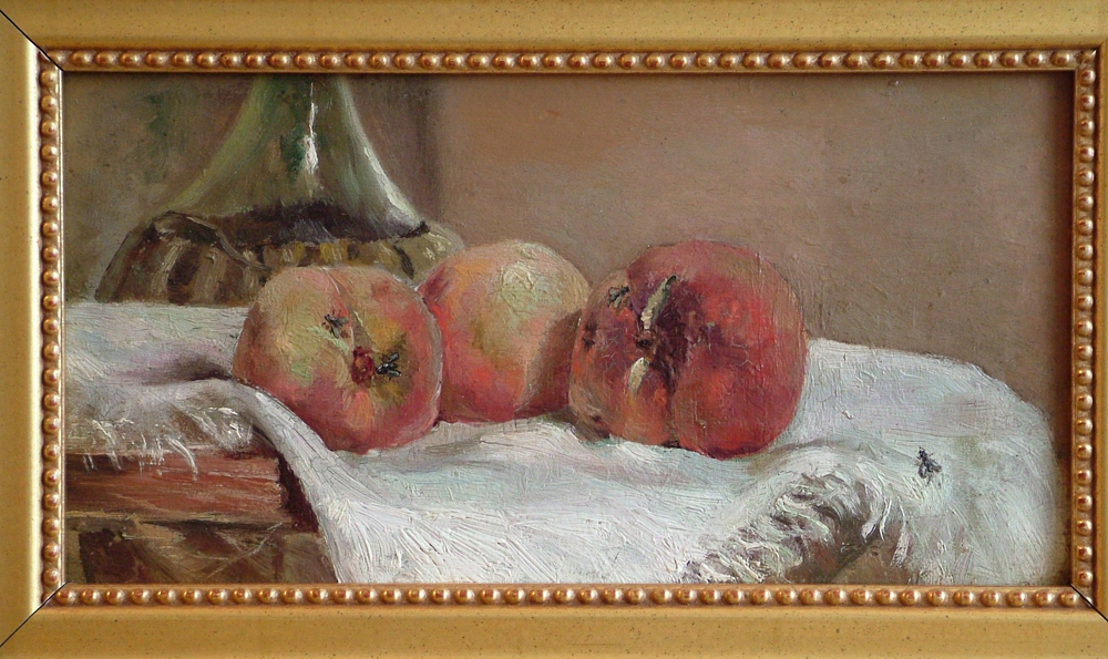 Camillo Tango oil painting of Peaches and the Flies