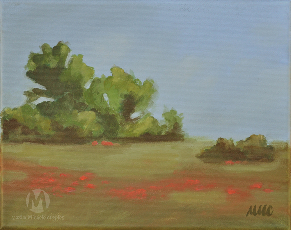 """""""Poppy Field"""" Study"""