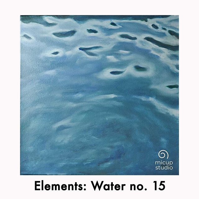 """Painting Elements Water no. 15 Fine Art Oil Paintings by Artist Michele Cupples See the mesmerizing tiny water ripples flowing from my latest 'Elements' series painting!  20""""x20"""" 5/8"""" deep, 100% #cotton #canvas with a #wood stretcher #frame  Painted with #Gamblin oil paints, finished with a protective coat of #Gamvar #varnish .  #micupstudio #oilpainting #impressionism #elements #water #ripples #landscape #zen #fineart #creativeuprising #instaart #instaartist #contemporaryart #creative #paintanyway #michelecupples #neworleans #nola #newyork #nyc #savannah #atlanta #atl"""